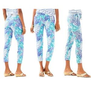 Lilly Pulitzer Blue Current Fantasea Pants